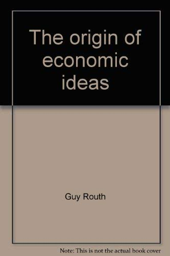 9780873320719: The origin of economic ideas
