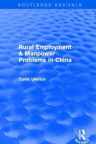 9780873321280: Rural Employment & manpower problems in China