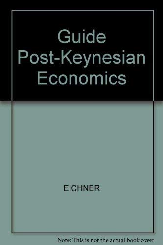 9780873321426: Guide Post-Keynesian Economics