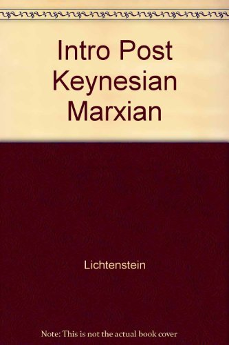 9780873322140: An Introduction to Post-Keynesian and Marxian Theories of Value and Price