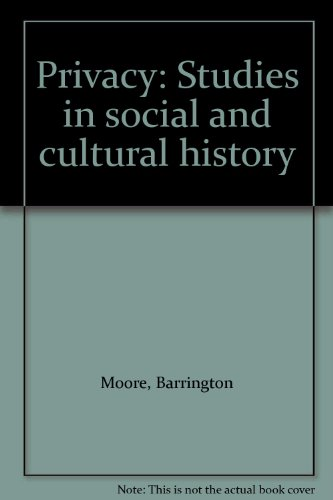 9780873322669: Privacy: Studies in Social and Cultural History