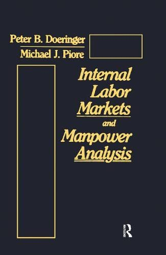 9780873323321: Internal Labor Markets and Manpower Analysis