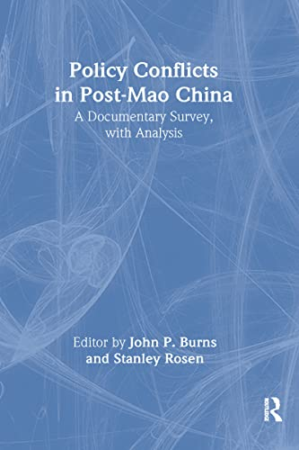 9780873323376: Policy Conflicts in Post-Mao China: A Documentary Survey with Analysis