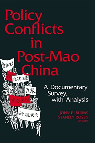 9780873323383: Policy Conflicts in Post-Mao China: A Documentary Survey with Analysis
