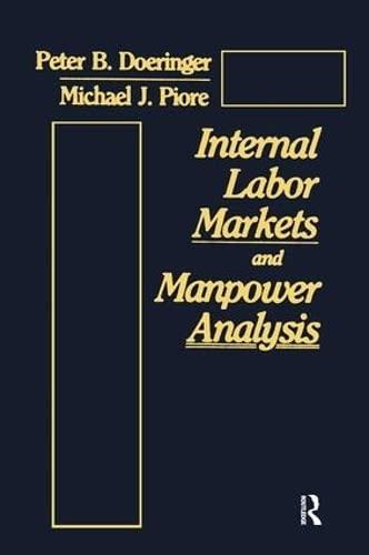 9780873323512: Internal Labor Markets and Manpower Analysis