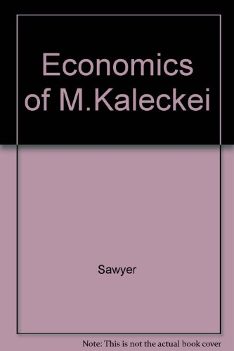 9780873323529: Economics of Michal Kalecki