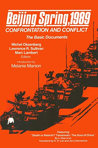 9780873326841: Beijing Spring 1989: Confrontation and Conflict - The Basic Documents