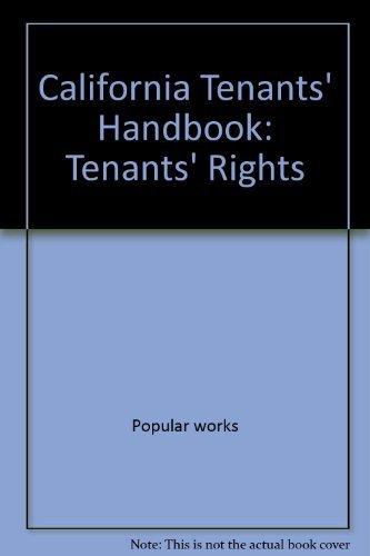 9780873370240: California tenants' handbook: Tenants' rights (California Tenant's Rights)