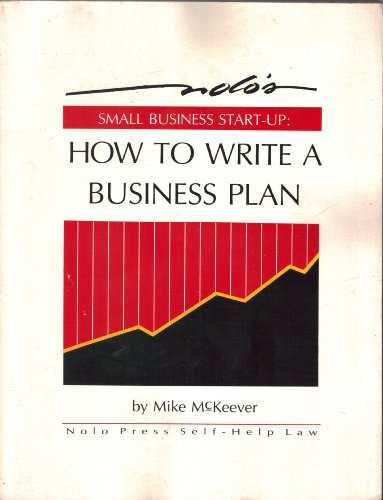 9780873370813: Small Business Start-up: How to Write a Business Plan