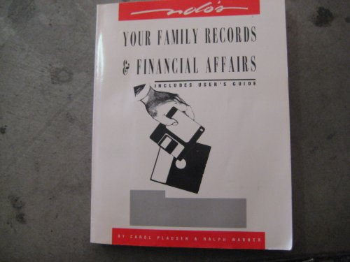 Nolo's Your Family Records & Financial Affairs: Werner, Carol Pladsen & Ralph