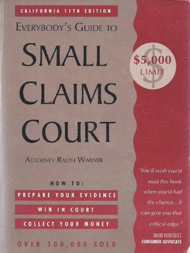9780873372114: Everybody's Guide to Small Claims Court