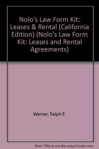 9780873372282: Nolo Law Form Kit: Leases & Rental Agreements (NOLO'S LAW FORM KIT: LEASES AND RENTAL AGREEMENTS)