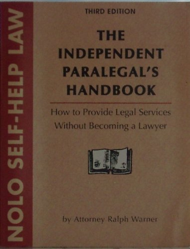 9780873372688: The Independent Paralegal's Handbook (3rd ed)