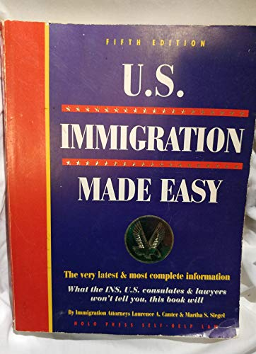 Us Immigration Made Easy (0873373030) by Canter, Laurence A