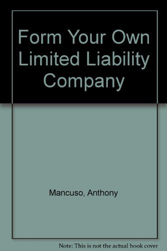 9780873373074: Form Your Own Limited Liability Company
