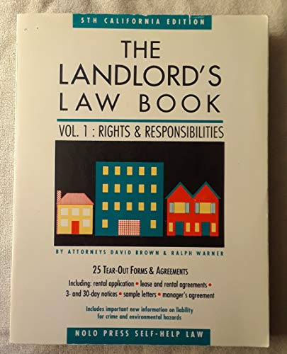 The Landlord's Law Book: Rights and Responsibilities: David Wayne Brown,
