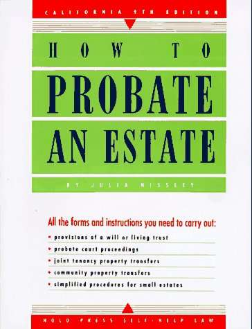 9780873373869: How to Probate an Estate: