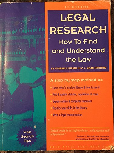 9780873374019: Legal Research: How to Find and Understand the Law (5th ed)