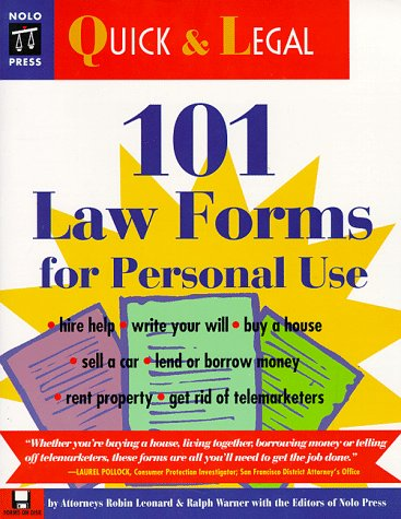 9780873374125: 101 Law Forms for Personal Use