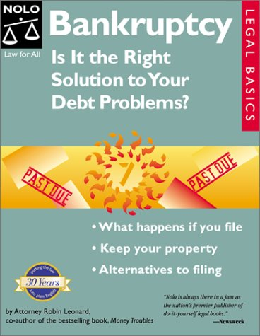 9780873374491: Bankruptcy : Is It the Right Solution to Your Debt Problems? (Quick & Legal Series)