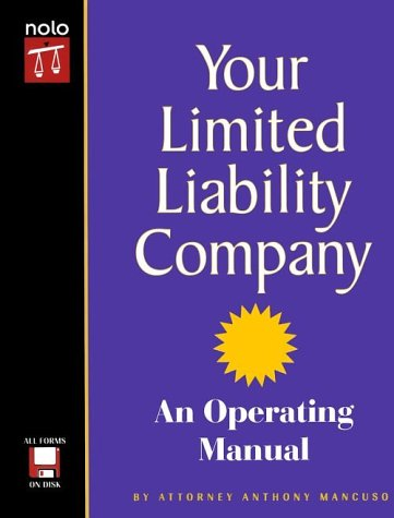 9780873375108: Your Limited Liability Company: An Operating Manual with CDROM