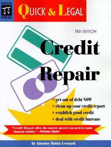 9780873375160: Credit Repair: Auick & Legal