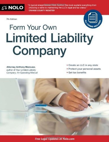 9780873375528: Form Your Own Limited Liability Company