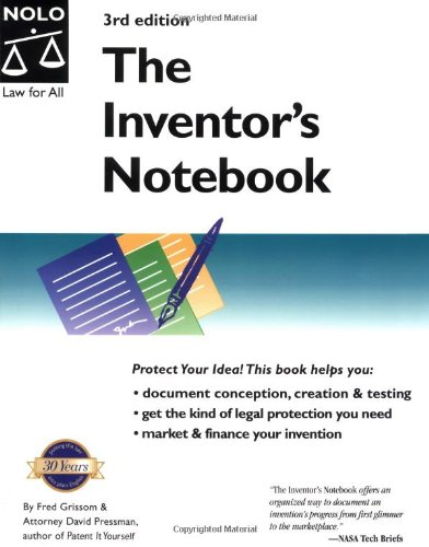 The Inventor's Notebook (9780873375993) by Grissom, Fred E.; Pressman, David; Grissom, Fred