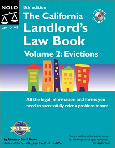 9780873376433: The California Landlord's Law Book Volume 2: Evictions (8th Ed)