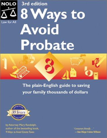 9780873377096: 8 Ways to Avoid Probate