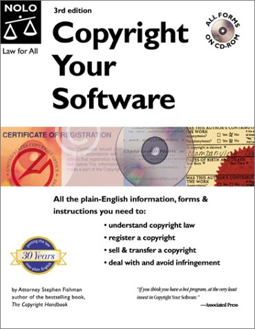 9780873377195: Copyright Your Software