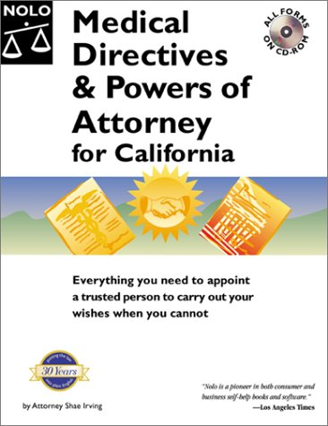 9780873377850: Medical Directives & Powers of Attorney in California (Medical Directives & Powers of Attorney for California, 1st ed)
