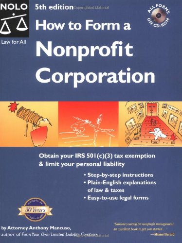 9780873378062: How to Form a Nonprofit Corporation (5th Edition)
