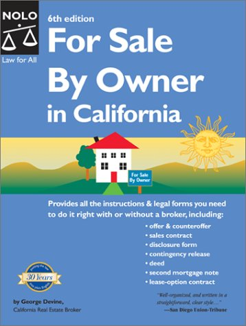 For Sale by Owner in California (For Sale By Owner California Edition) (0873378091) by Devine, George; Bray, Ilona M.; Stewart, Marcia