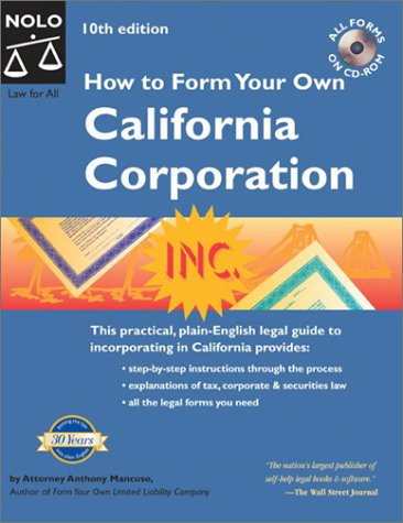 9780873378260: How to Form Your Own California Corporation