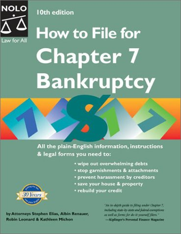 9780873378277: How to File for Chapter 7 Bankruptcy, 10th Edition