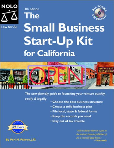 Small Business Start-Up Kit for California with CDROM: Peri Pakroo