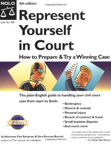 9780873379083: Represent Yourself in Court: How to Prepare and Try a Winning Case
