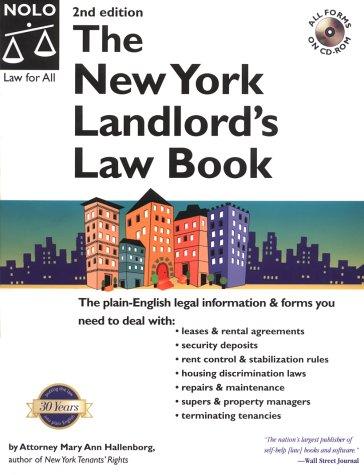 New York Landlord's Law Book: Hallenborg, Mary Ann
