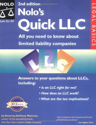 9780873379298 Nolo S Quick Llc All You Need To Know About Limited
