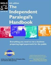 9780873379427: Independent Paralegal's Handbook: How to Provide Legal Services Without Becoming a Lawyer