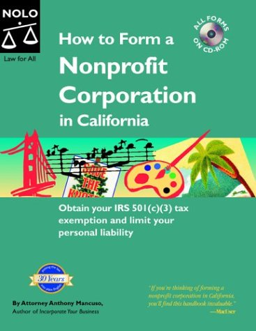 How to Form a Nonprofit Corporation in California: Anthony Mancuso