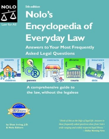 9780873379762: Nolo's Encyclopedia of Everyday Law: Answers to Your Most Frequently Asked Legal Questions