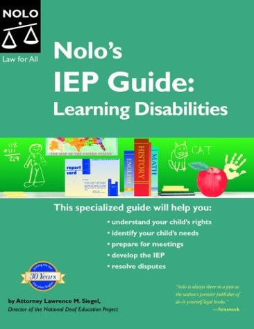 9780873379847: Nolo's IEP Guide: Learning Disabilities