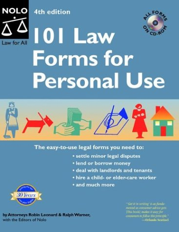 101 Law Forms for Personal Use: Leonard, Robin, Warner, Ralph E.