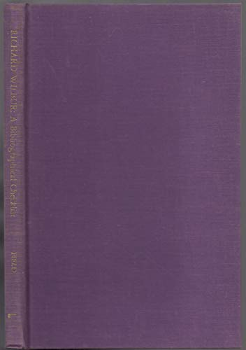 Richard Wilbur : A Bibliographical Checklist (The Serif Series; Bibliographies and Cheklists, ...