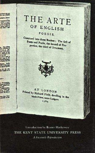 9780873380461: The Arte of English Poesie (Kent English Reprints. the Renaissance)