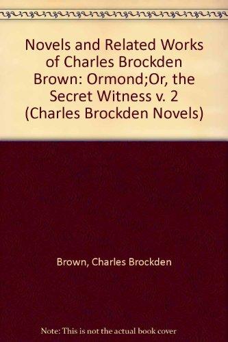 9780873382779: Ormond: Or the Secret Witness (Charles Brockden Novels) (v. 2)