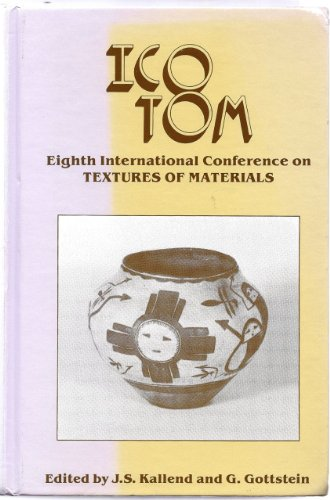 9780873390354: Icotom 8 International Conference on Textures of Materials