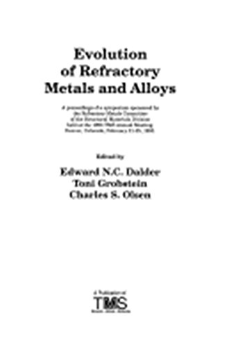 9780873392341: Evolution of Refractory Metals and Alloys: A Proceedings of a Symposium Sponsored by the Refractory Metals Committee of the Structural Materials Div